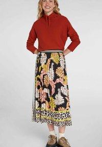 Oui - A-line skirt - black camel - 4