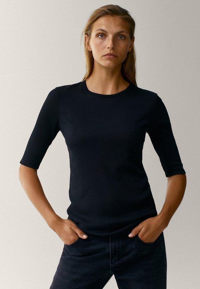 CREW NECK - T-shirt basique - black