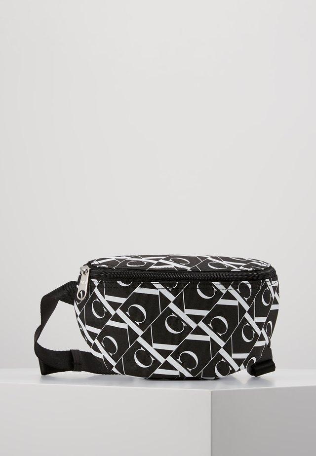 MIRRORED MONOGRAM WAIST PACK - Across body bag - black
