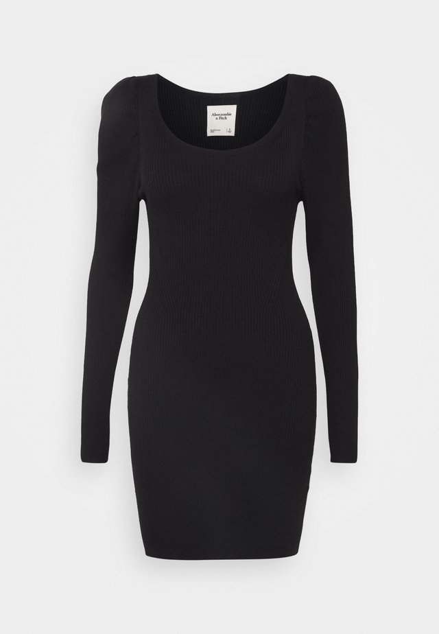 DRESS SLEEVE DETAIL - Shift dress - black
