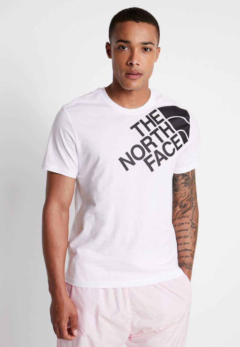 The North Face - SHOULDER LOGO TEE - Print T-shirt - tnf white