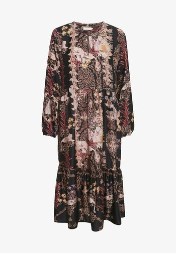 Vestito estivo - black flower and leo