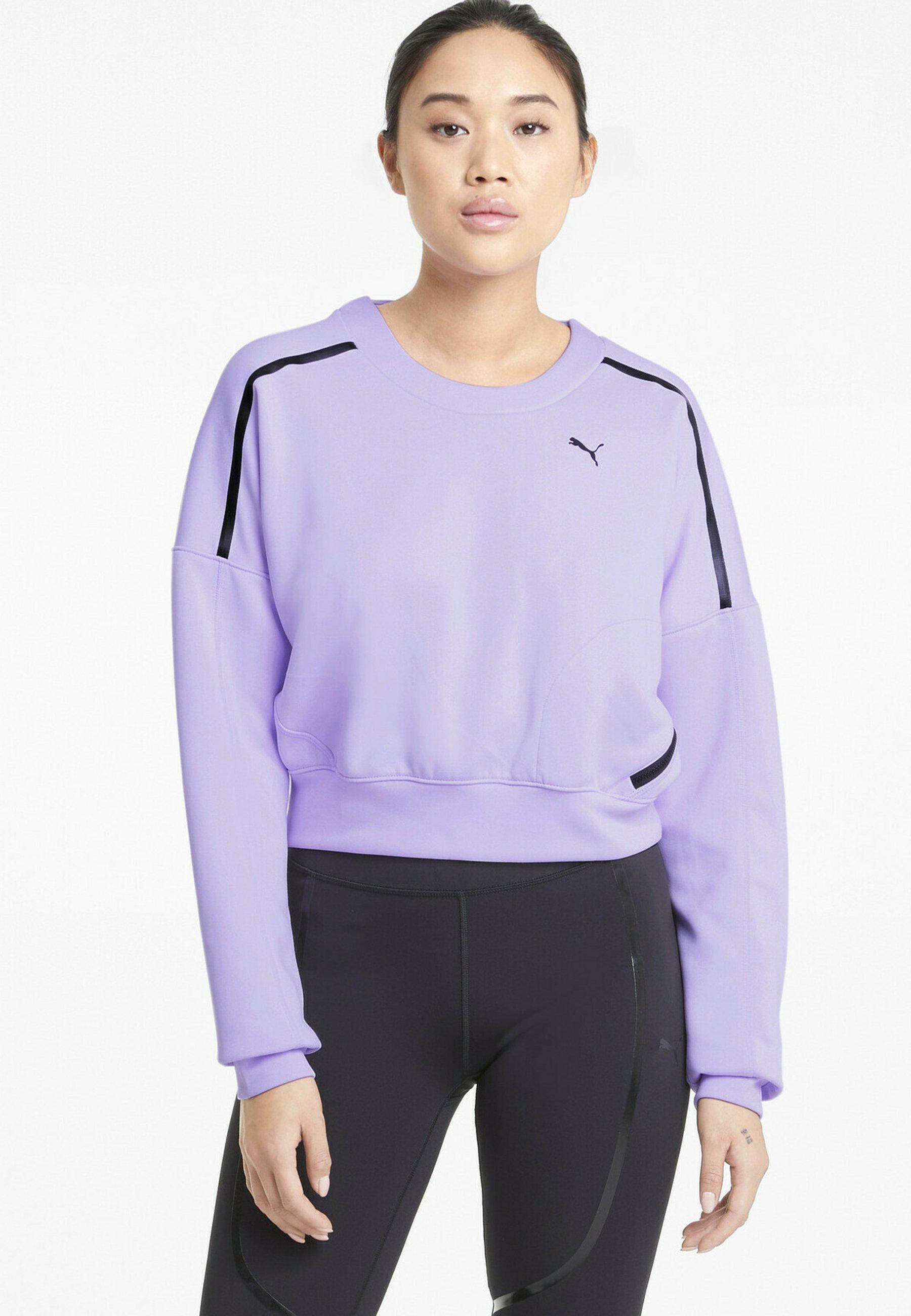 Damen TRAIN ZIP CREW - Sweatshirt