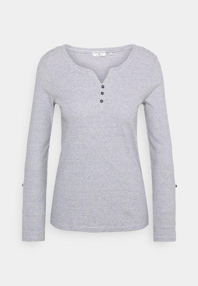T-shirt à manches longues - offwhite navy