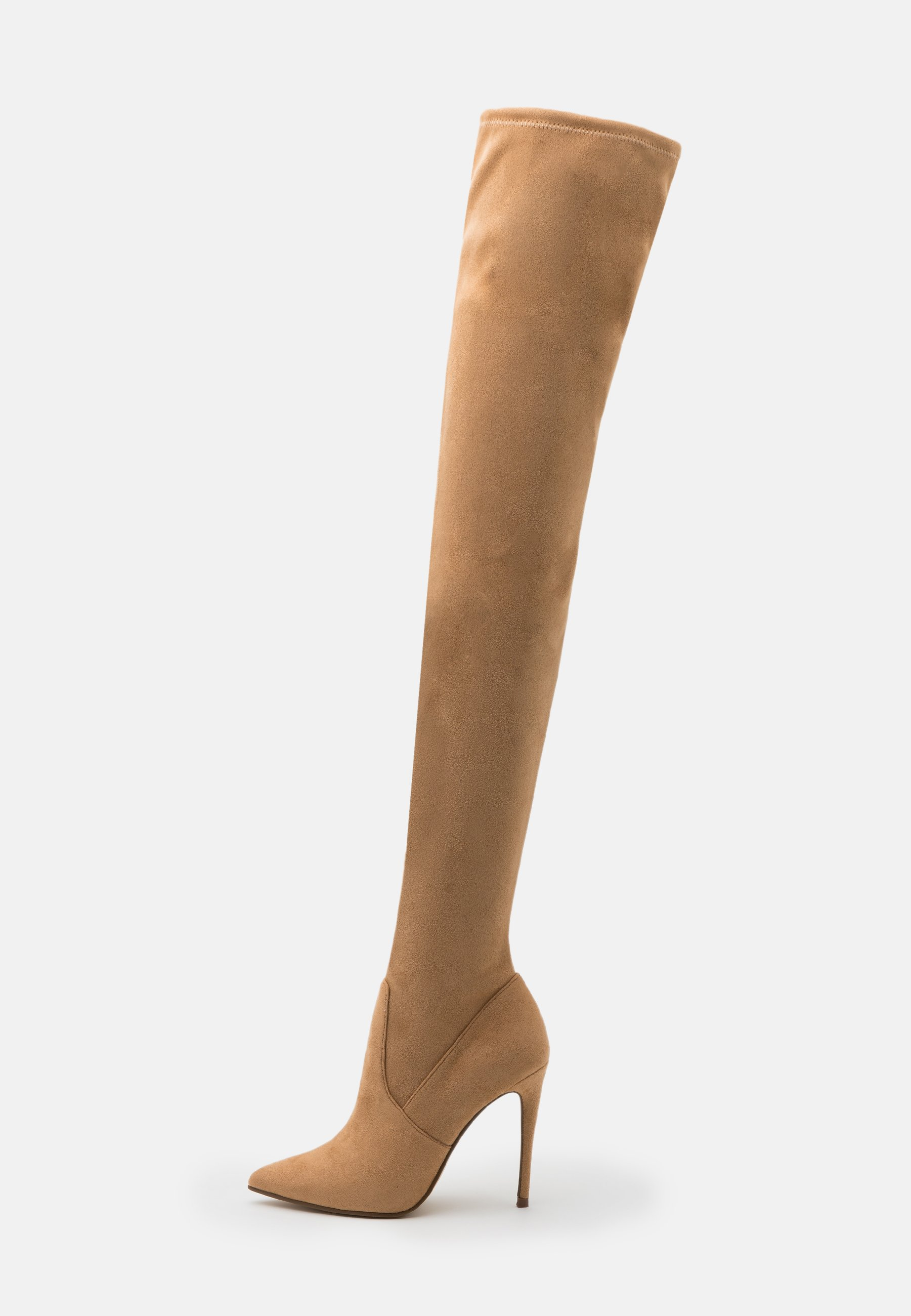 DOMINIQUE Laarzen met hoge hak brown
