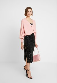 French Connection - DESIREE SEQUIN SKIRT - Pencil skirt - black - 1