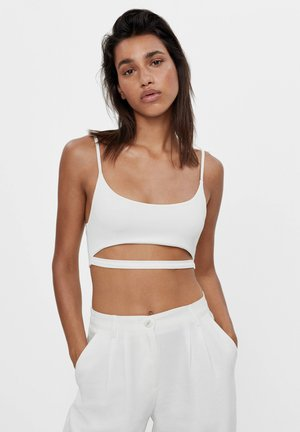 CROPPED-TOP MIT CUT-OUTS 08583256 - Toppi - white