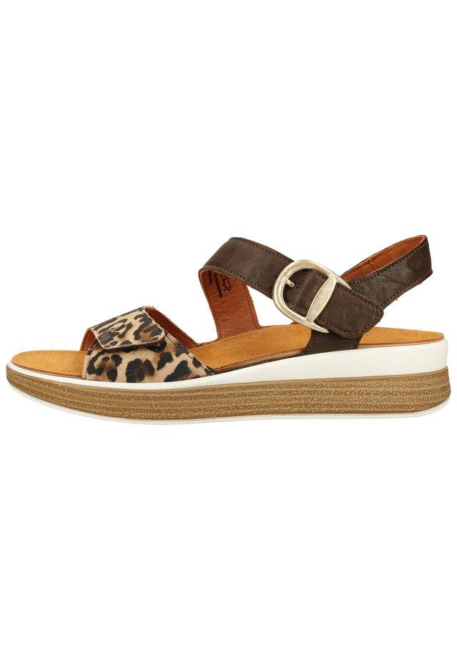 THINK! SANDALEN - Sandalen met sleehak - pallisandro/kombi 27