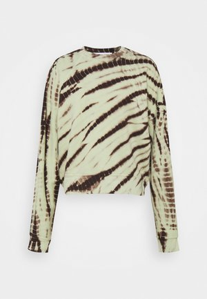 MODIFIED RAGLAN TIE DYE - Sweater - spanish moss/grass