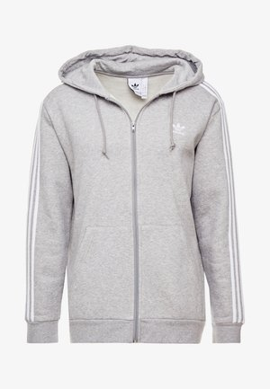 STRIPES  - veste en sweat zippée - medium grey heather