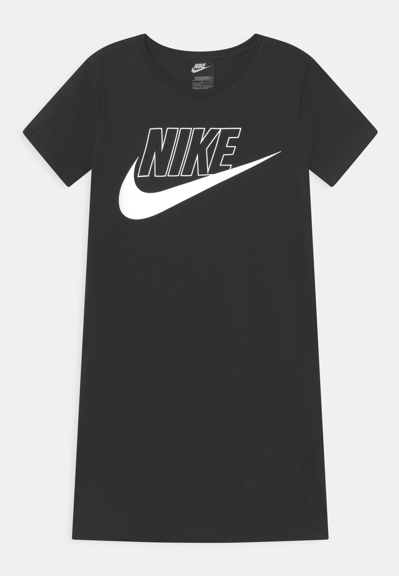 Nike Sportswear - FUTURA  - Jersey dress - black/white