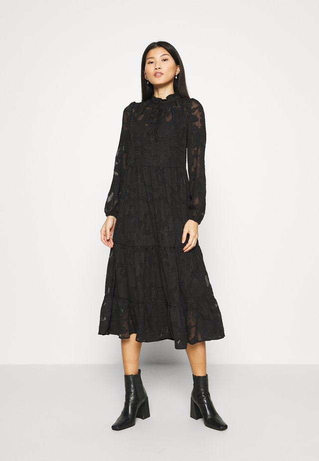 CRJELENA DRESS 2-IN-1 - Shirt dress - pitch black