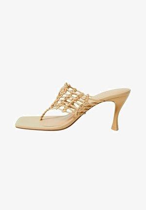 High heeled sandals - écru