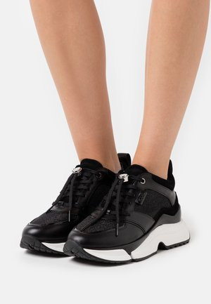 AVENTUR LUX MIX LACE SHOE  - Matalavartiset tennarit - black