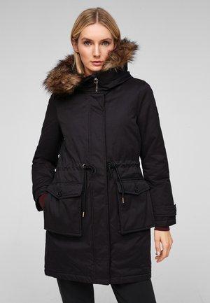 MIT DOPPELKAPUZE - Winter coat - black