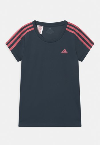 Print T-shirt - dark blue/pink