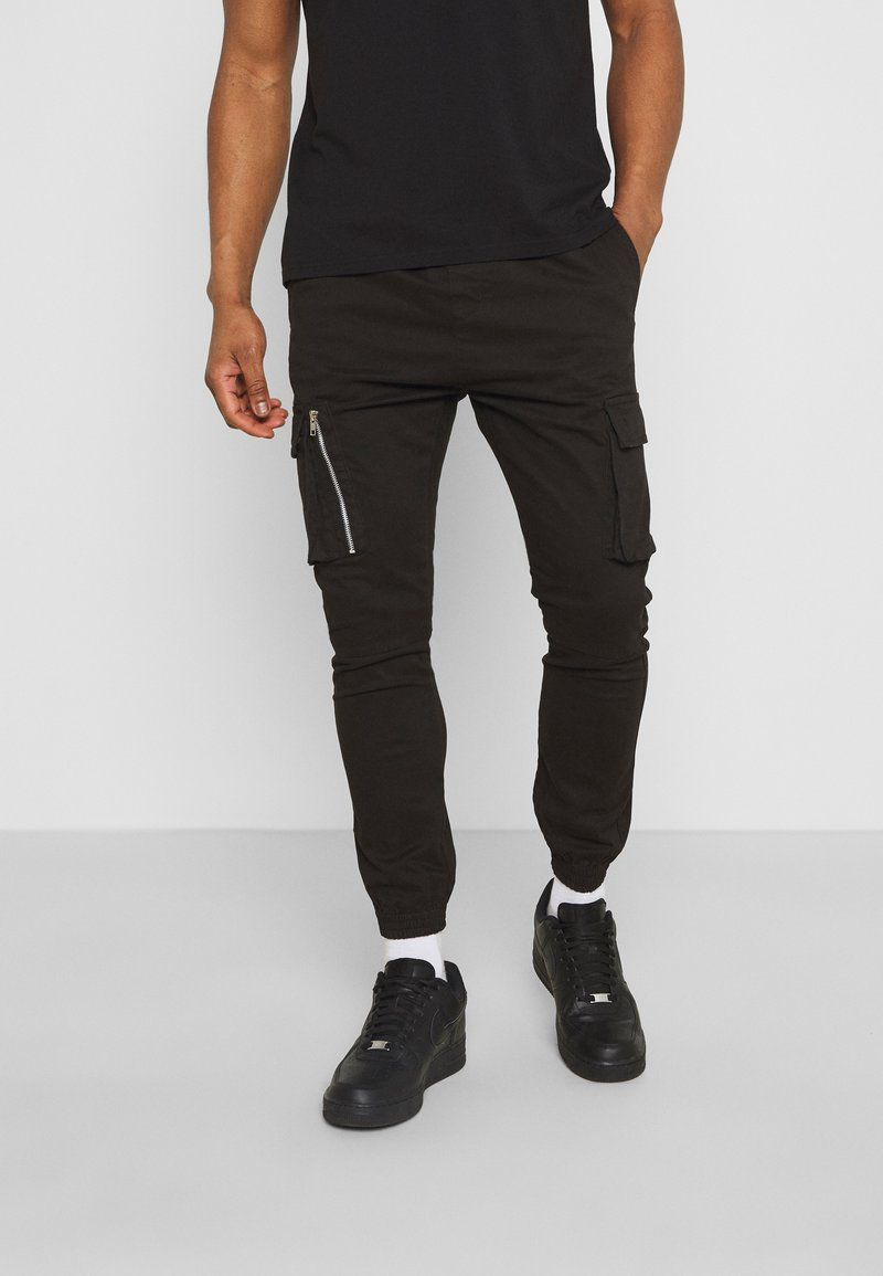 Brave Soul - DIVIDE - Cargo trousers - black