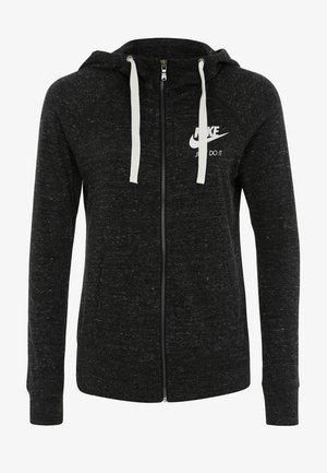 VINTAGE HOODIE - Zip-up hoodie - anthracite/white