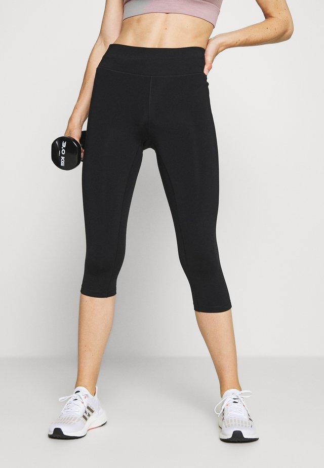 CLASSIC - Pantalón 3/4 de deporte - black