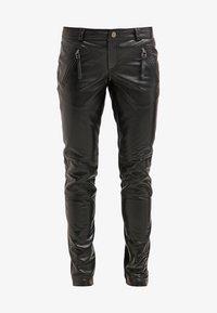 Gestuz - ADA - Leather trousers - black - 6