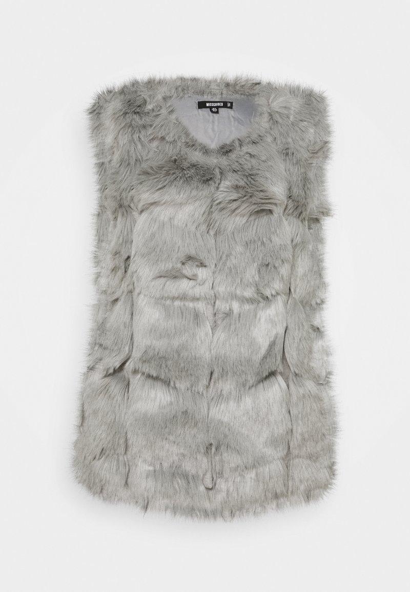 Missguided - BUBBLE GILET - Waistcoat - light grey