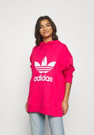 TREFOIL HOODIE ADICOLOR HOODED - Jersey con capucha - powpink/white