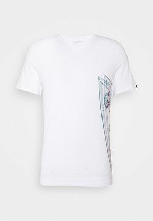 WHIRE FRAME - Camiseta estampada - blanc pur