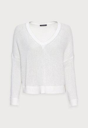 LONGSLEEVE V-NECK STRUCTURED - Jumper - white
