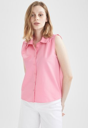 CROPPED FIT  - Button-down blouse - pink