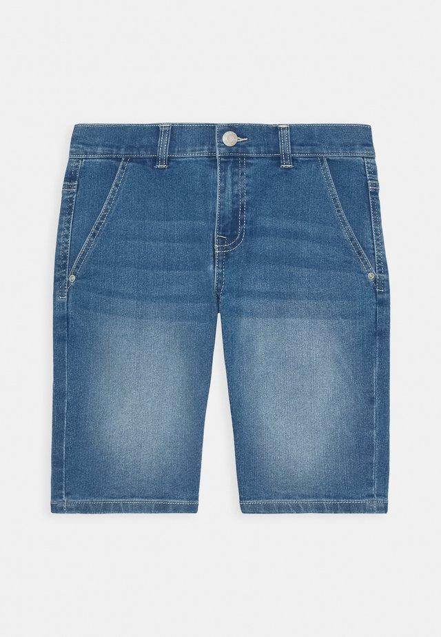 BERMUDA - Denim shorts - light indigo denim