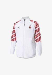 Puma - AC MILAN AWAY STADIUM YOUTH - Club wear -  white-tango red - 0