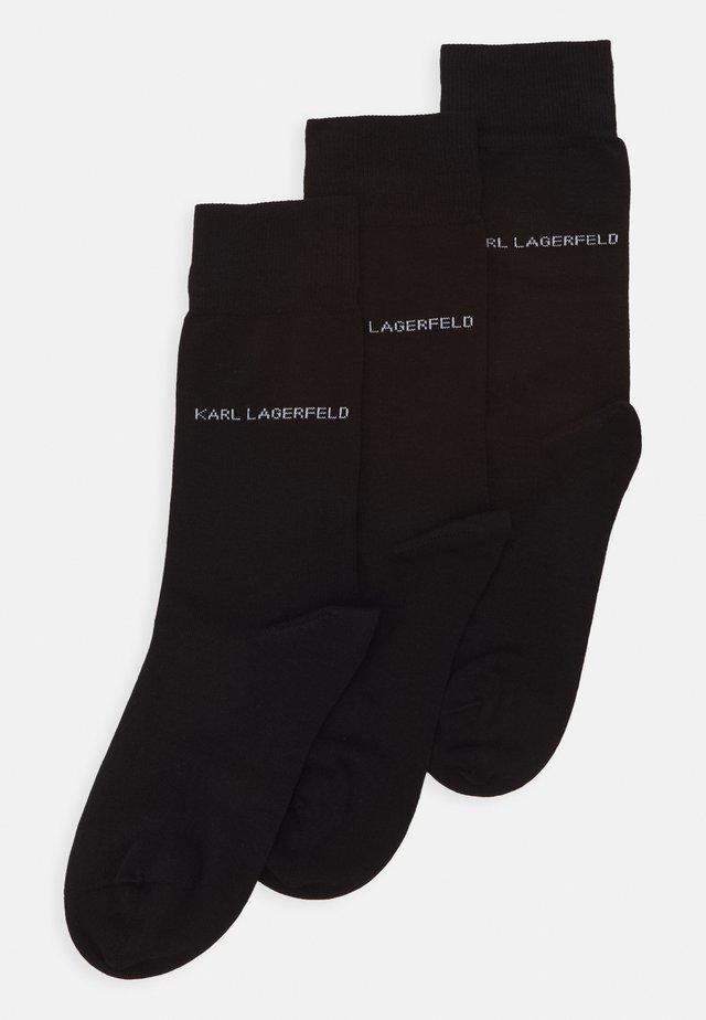 3 PACK - Ponožky - black