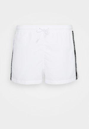 CORE LOGO TAPE DRAWSTRING - Swimming shorts - white