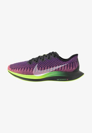 ZOOM PEGASUS TURBO 2 WILD RUN - Competition running shoes - black/green/orange/purple