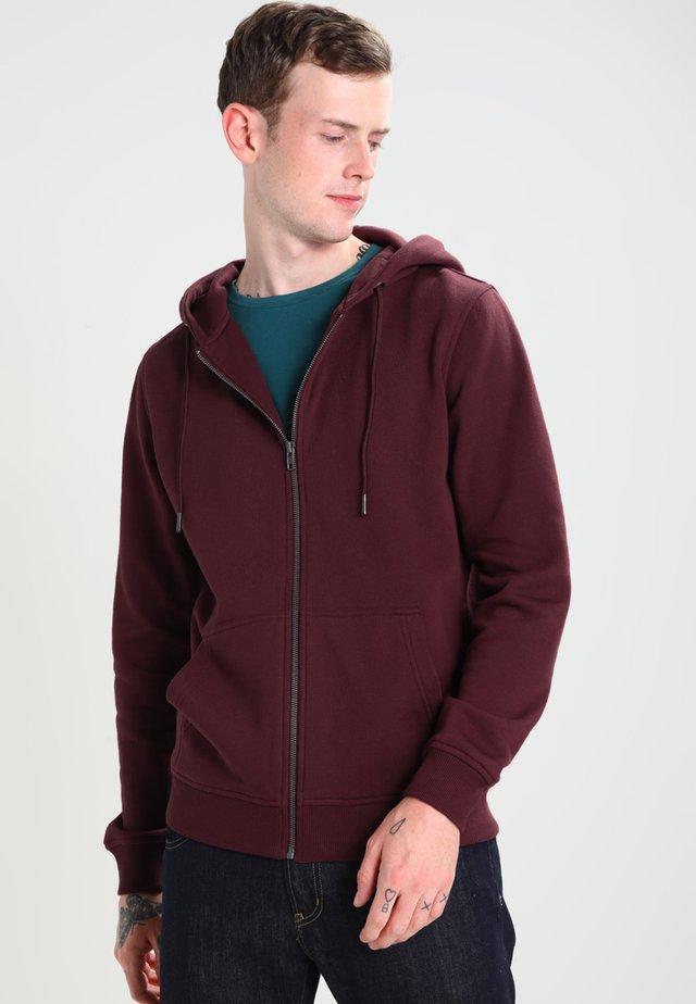 BASIC - Zip-up hoodie - cherry