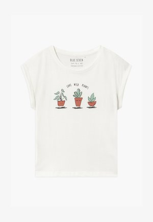 TEEN GIRL LOVE WILD PLANTS - Triko s potiskem - off-white