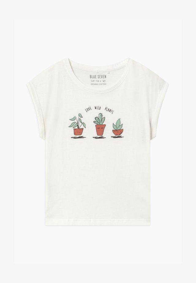 TEEN GIRL LOVE WILD PLANTS - T-shirts med print - off-white