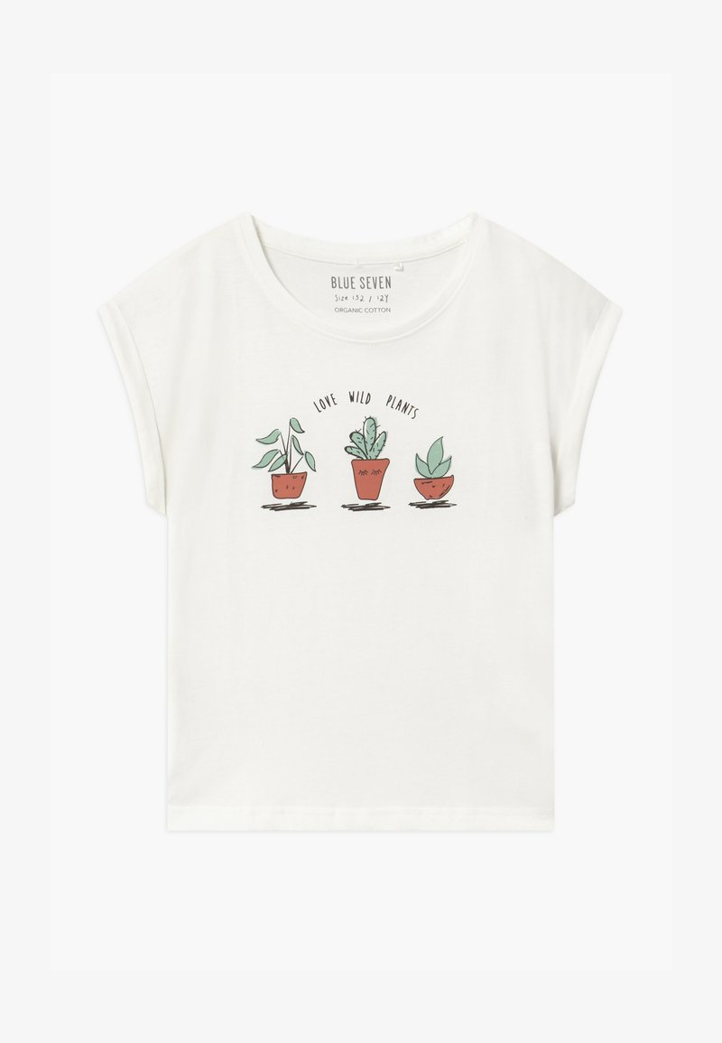 Blue Seven - TEEN GIRL LOVE WILD PLANTS - Print T-shirt - off-white