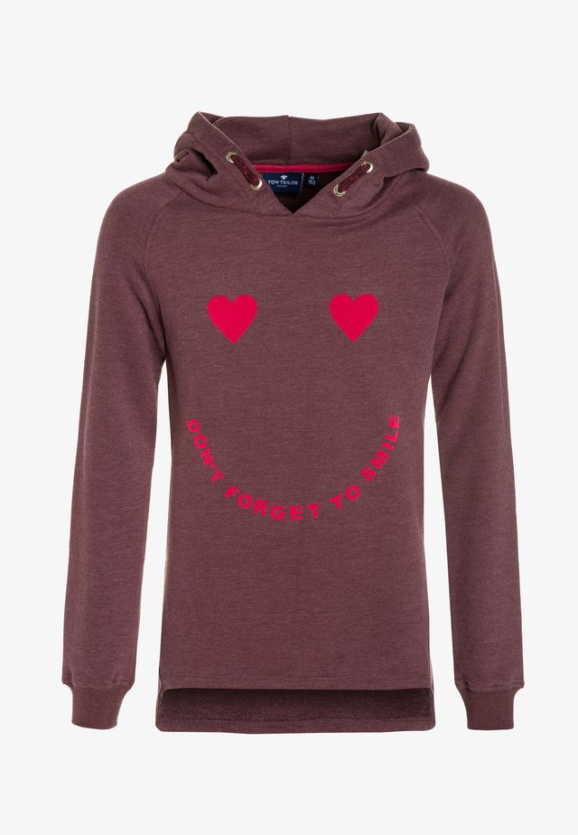 Hoodie - oxblood red/red