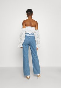 Missguided - BARDOT CROP - Long sleeved top - white - 2