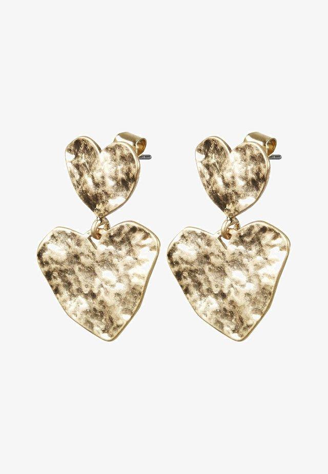 HAMMERED HEART  - Orecchini - gold