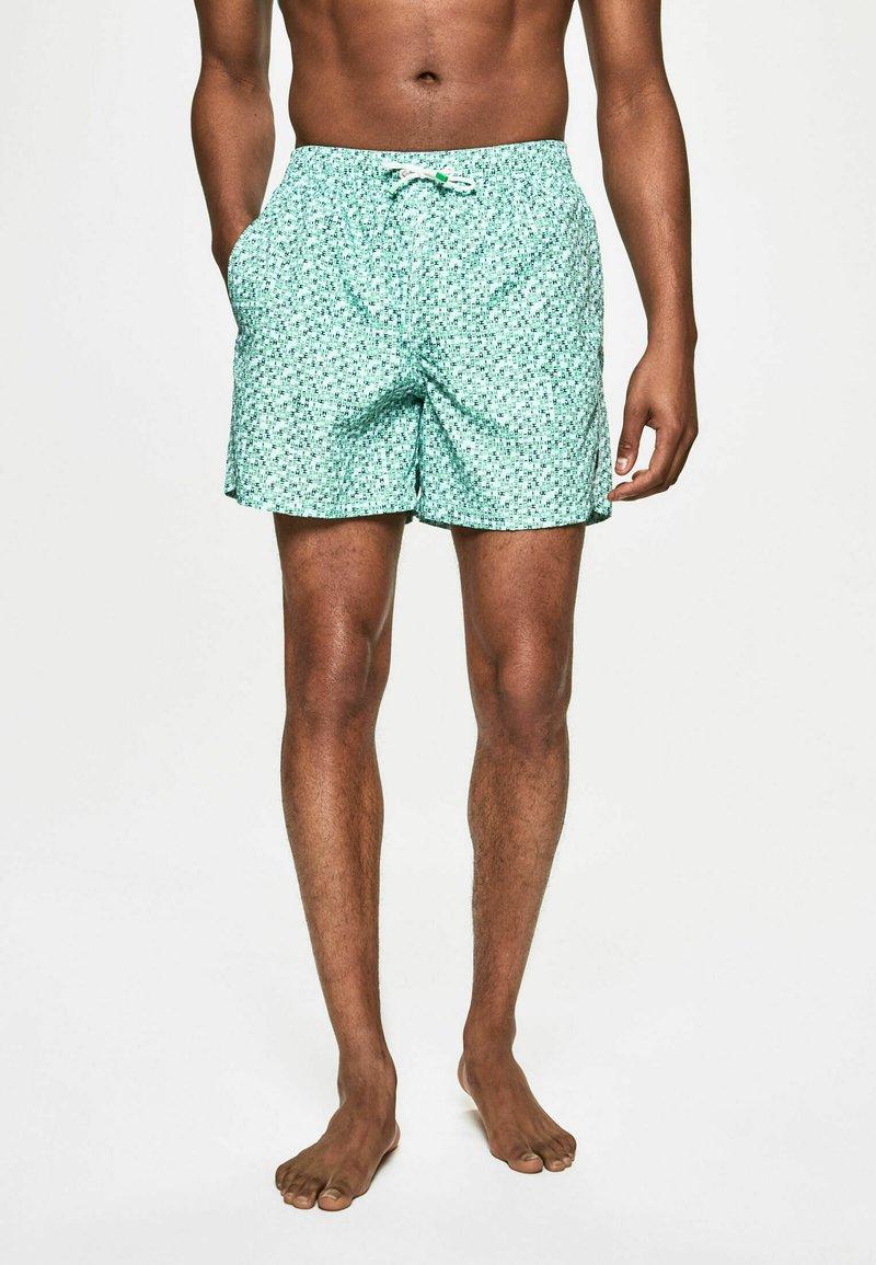Hackett London - H PRINT SW - Swimming shorts - green