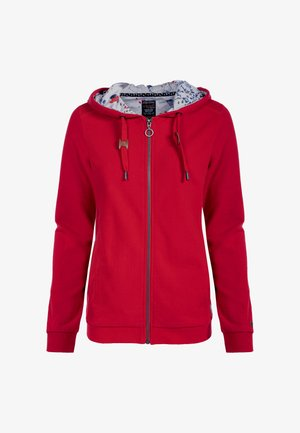 Zip-up sweatshirt - apfelrot