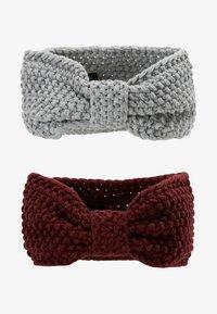 Even&Odd - 2 PACK - Ear warmers - grey/bordeaux - 3