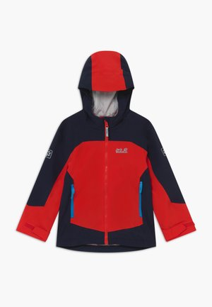 ROPI JACKET BOYS - Hardshell jacket - peak red