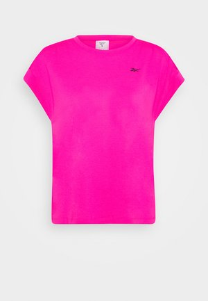 SUPREMIUM DETAIL TEE - T-shirts med print - pink