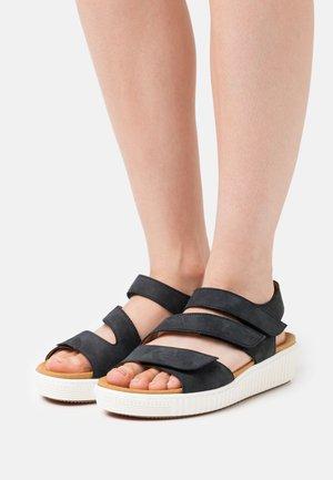 Platform sandals - nightblue