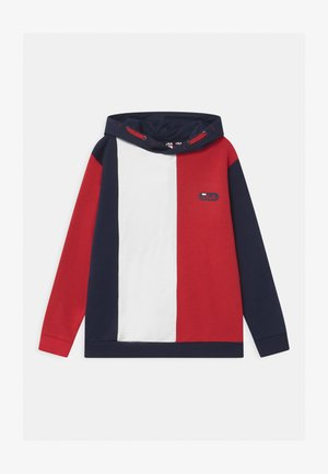 BEN HOODIE - Bluza - black iris/true red/bright white