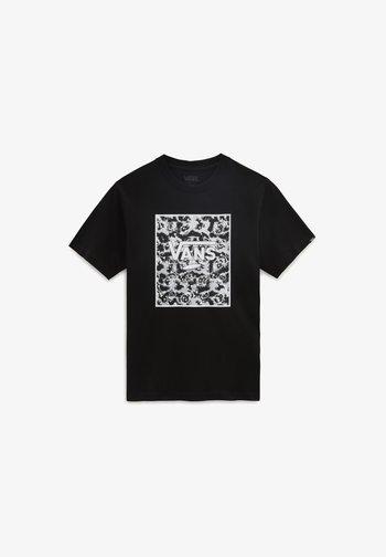 BY PRINT BOX  - Print T-shirt - black/tie dye skull