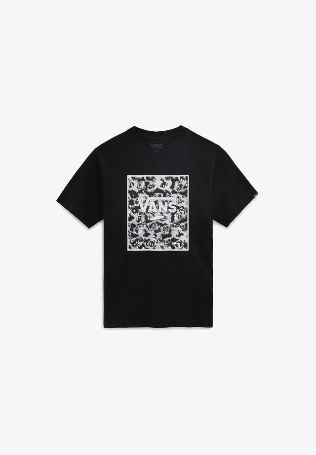BY PRINT BOX  - T-shirt print - black/tie dye skull